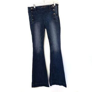 Express Bellbottom Jeans. Size 8L C15
